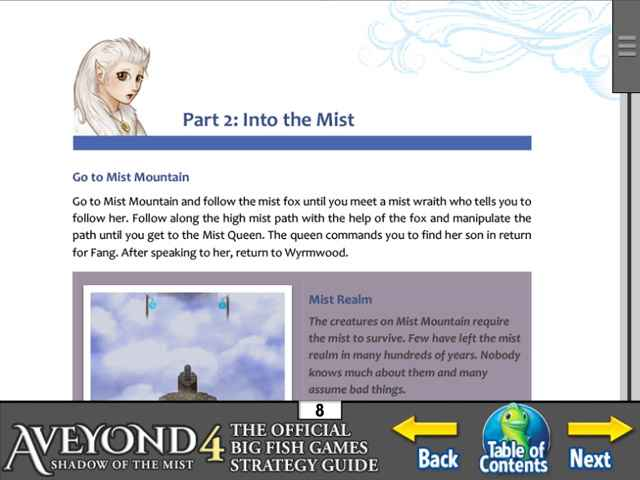 Aveyond 4: Shadow of the Mist Strategy Guide Screen 2