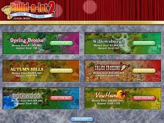 Build-a-lot 2: Town of the Year Screen 1
