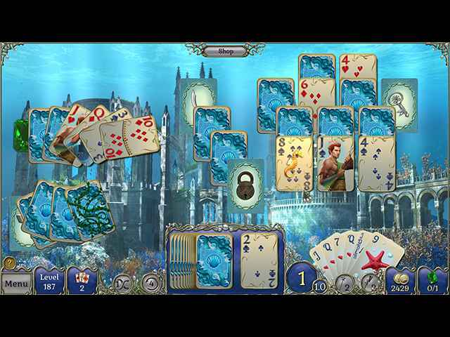 Jewel Match Solitaire Atlantis Screen 1