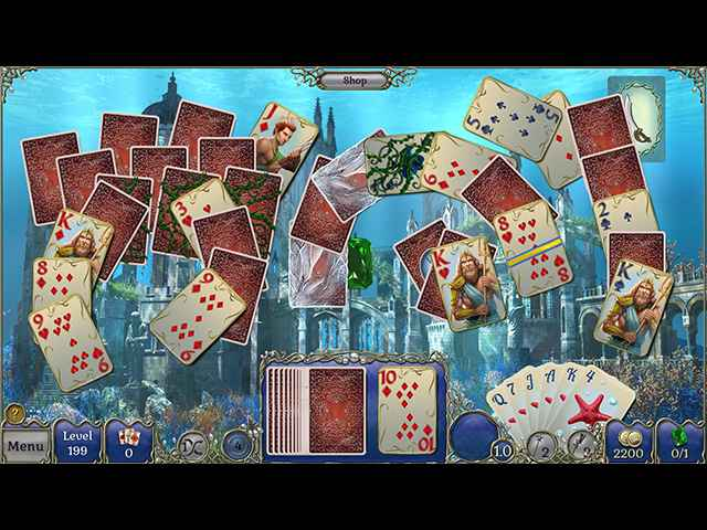 Jewel Match Solitaire Atlantis Screen 2