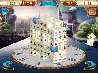 Mahjongg Dimensions Deluxe: Tiles in Time Screen 1