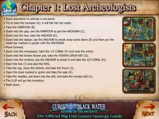 Mystery of the Ancients: The Curse of the Black Water Strategy Guide Screen 1