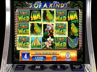 WMS Jungle Wild Slot Machine Screen 1